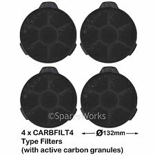 4 x Carbon Charcoal Vent Filters for B&Q Cooker Hood CHK60 02859394 CARBFILT4