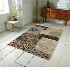Sincerity Modern Artisan Patchwork Design Beige Brown Rug 120 x 170 cm