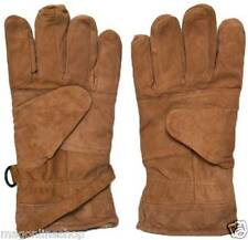 Winter TAN Leather Gloves for Men Gents Boys Riding Bike and Driving for Byke