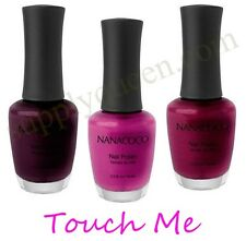 NanaCoco Touch Me Collection Nail Polish Lot of 3 Colors Set Lacquer