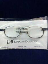 3 Pair RANDOLPH ENGINEERING MENS EYEGLASSES FRAMES RE 350 50mm PEWTER METAL