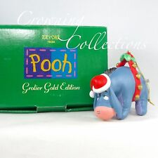 Grolier Eeyore Gold Edition Ornament Porcelain Disney from Winnie the Pooh MIB