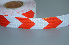 New Red White Arrows Reflective Safety Conspicuity Tape,2 Inch,3M/lot