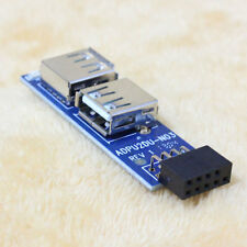 PC Host Case Internal Motherboard USB 2.0 Hub 9Pin to 2 Port USB A Female card