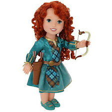 "NEW 1st Issue My First Disney Princess BRAVE BABY DOLL Merida LG 16"" Bow & Arrow"
