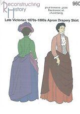 Schnittmuster RH 960: Late Victorian Apron Drapery Skirt