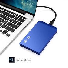 USB 3.0 HDD SATA 2.5 Zoll Festplatte Gehäuse Festplattengehäuse Blau