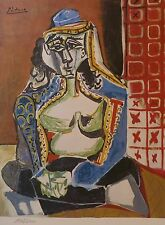 PABLO PICASSO Woman Turkish Costume plate signed HAND NUMBERD LITHOGRAPH gouache