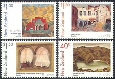 New Zealand 1999 Doris Lusk/Artists/Art/Paintings/Buildings  4v set (n17320)