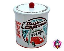 OFFICIAL VW CAMPER VAN ROUND METAL BISCUIT BARREL TIN COOKIE JAR NEW