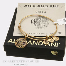 Authentic Alex and Ani Virgo(iii) Rafaelian Gold Charm Bangle