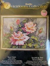 Bucilla Heirloom collection Dana's Roses, counted cross stitch #45962