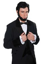 Black Abraham Lincoln 1800's American President Fancy Dress Wig Beard Set P8889