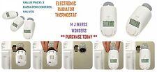 Termostato Electrónico De Radiador-con control de temperatura temporizado-Paquete de 3