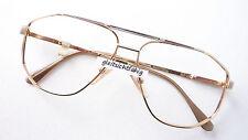 Brille Metall Fassung frame glasses Pilot Form sportlich große Bicolor stabil M