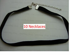 "10 x  Black 10mm Velvet Cord 13"" Choker Necklace Wiccan Pagan Gothic Wholesale"