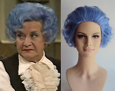 DELUXE BLUE RINSE SHORT CURLY OLD LADY GRANNY WIG