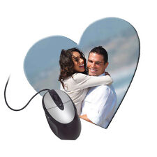 Personalized Mousepad Custom Printed Heart  Add Your Own Image text  GIFT L