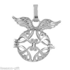 1PC Hollow Box Wing Pendant Bola Angel Cage Sound Bell Beads Jewelry DIY