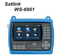 SATLINK WS-6951 DVB-S/S2 FTA HD Digital Satellite Finder with MPEG-2/4,QPSK,8PSK