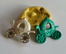 Princess carriage 34mm flexible silicone mold for chocolate fondant clay & more