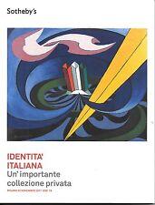 """SOTHEBY'S   catalogo asta """"  IDENTITA'  ITALIANA """" Milano 2011"""