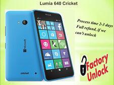UNLOCK CODE CRICKET MICROSOFT  LUMIA 640 - FAST UNLOCK SERVICE