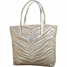 MICHAEL KORS GLAMOROUS GOLD TIGER PRINT CANVAS TOTE HANDBAG SHOPPER BAG   1