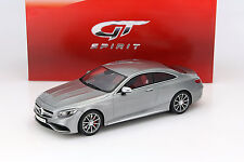Mercedes-amg s 63 Coupe plata 1:18 GT-Spirit