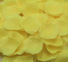 100pcs NEW Silk Flowers Rose Petals Wedding Party Floral Crafts Yellow