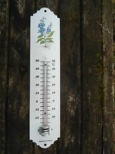 THERMOMETRE EMAILLE JARDIN MAISON NEUF PLANTES MEDICINALES EMAIL VERITABLE 800°C