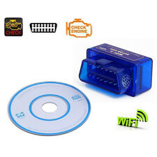 Mini WiFi ELM327 OBD2 OBD II Car Diagnostic Scanner Scan Tool for iPhone Mac PC