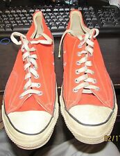 Vintage Converse All Star Chuck Taylor Shoes Sz 13  ORANGE Low Top USA Made WOW!