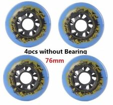 PU Replacement Wheels For Rollerblade Skating Inline Skate Shoes 76mm 4PCS 85A