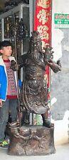 """80""""Big China Bronze Famous dragon guangong guangong Kuan Kung Warrior god statue"""
