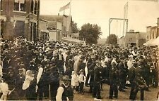 A View of the 4th of July Celebration in Hull IA RPPC
