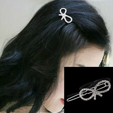 Fashion Girls Women Crystal Rhinestone Butterfly Barrette Hair Clip Hairpin  W87