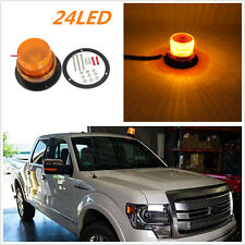 Car Bus Top Roof Beacon Strobe Emergency Warning Flash Light Amber DC12V/24V