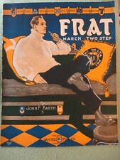 Frat March Two Step Sheet Music Barth 1920 Long Pipe Frameable Vintage