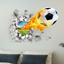 3D Football Wall Stickers Childrens Kids Boys Room Art Decal Home Decoration