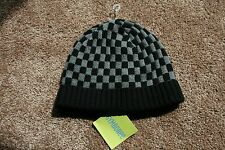 NWT Gymboree Boys Turbo Checkered Beanie Cap size 8 and up