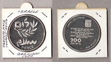 ISRAEL ISRAELE 200 Sterline Fdc Unc Silver 1980 Trattato di Pace con Egitto