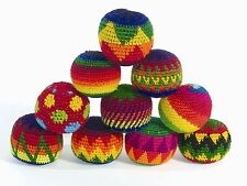 Fair Trade SET of 6 Haki Hacky Sack Juggling Stress relief Balls circus fun toys