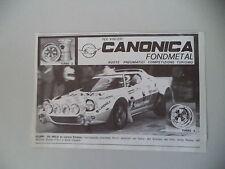 advertising Pubblicità 1981 RUOTE CANONICA FONDMETAL e LANCIA STRATOS