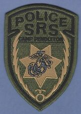 CAMP PENDLETON MARINE BASE CALIFORNIA SPECIAL REACTION SECTION POLICE PATCH GRN