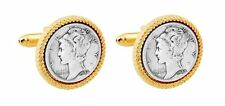 MERCURY DIME CUFFLINKS MANUFACTURERS DIRECT  MADE IN USA