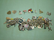 HUGE Vintage Sterling Silver Charm Bracelet Lot, MAKE OFFER, 50 Yr Collection