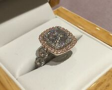 2.6 Carat Diamond Engagement Ring in Platinum & Rose Gold Size R