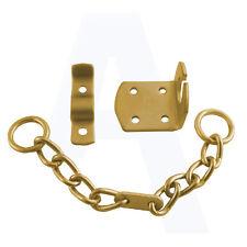 ERA 791 Security Door Chain for UPVC and Wooden Doors Brass Effect