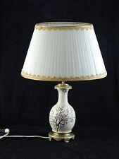 Lampe émaillée  Japonisante monté sur socle laiton doré de style Napoléon III